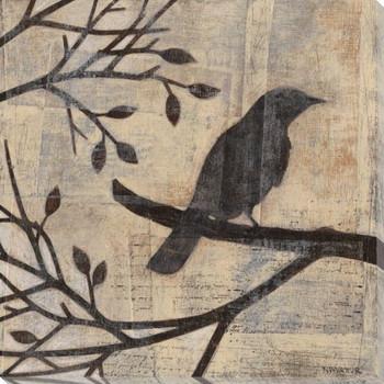 Evening Watch Bird II Wrapped Canvas Giclee Print Wall Art