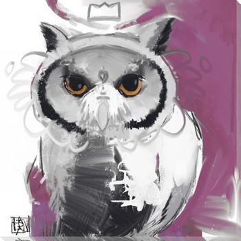 Owl Bird 3 Wrapped Canvas Giclee Print Wall Art
