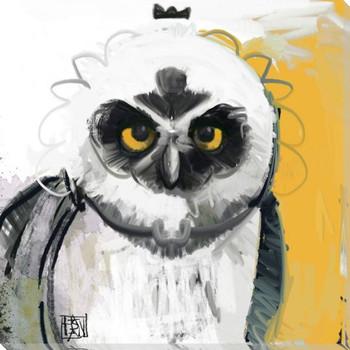 Owl Bird 6 Wrapped Canvas Giclee Print Wall Art