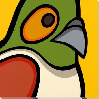 Parakeet Bird Wrapped Canvas Giclee Print Wall Art