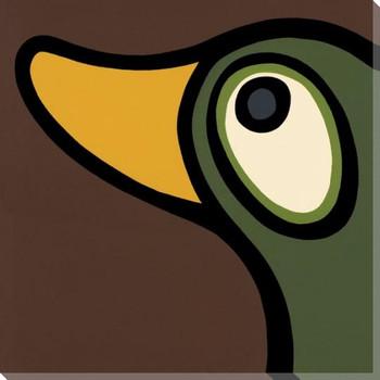Green Head Bird Wrapped Canvas Giclee Print Wall Art