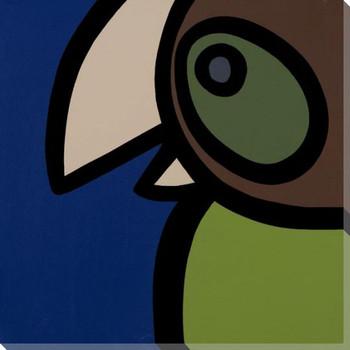 Brown Head Bird Wrapped Canvas Giclee Print Wall Art