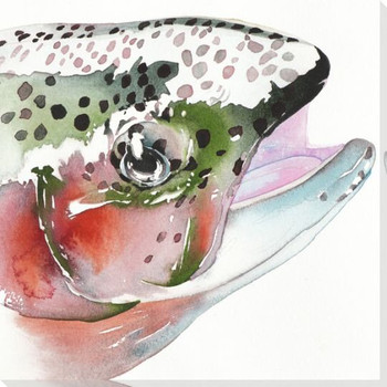 Rainbow Trout Wrapped Canvas Giclee Print Wall Art