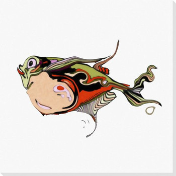 Tropical Fish 3 Wrapped Canvas Giclee Print Wall Art