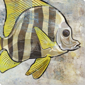Tropical Cove Fish Wrapped Canvas Giclee Print Wall Art