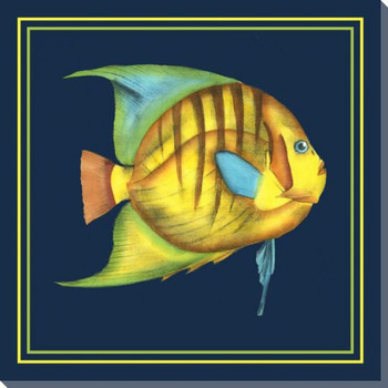 Tropical Fish Fantasy I Wrapped Canvas Giclee Print Wall Art