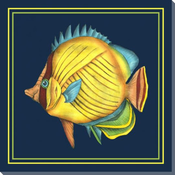 Tropical Fish Fantasy IV Wrapped Canvas Giclee Print Wall Art