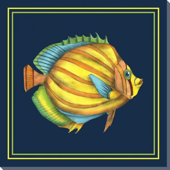 Tropical Fish Fantasy III Wrapped Canvas Giclee Print Wall Art