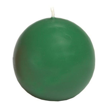"2.5"" Pine Green Ball Candles, Set of 8"