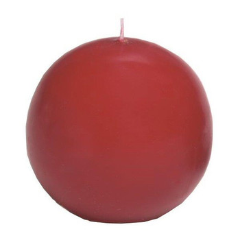 "2.5"" Burgundy Ball Candles, Set of 8"