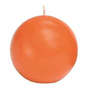 """2.5"""" Cantaloupe Ball Candles, Set of 8"""