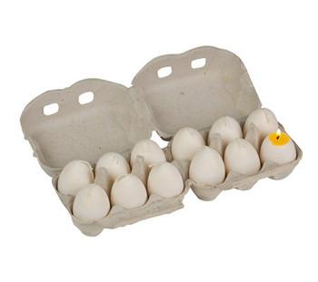 "2.25"" Yolk Egg Candles, Set of 12"