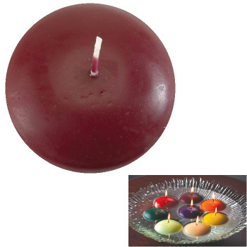 "1.75"" Burgundy Candle Floats Floating Candles, Set of 20"