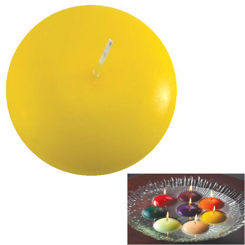 "3"" Yellow Candle Floats Floating Candles, Set of 16"