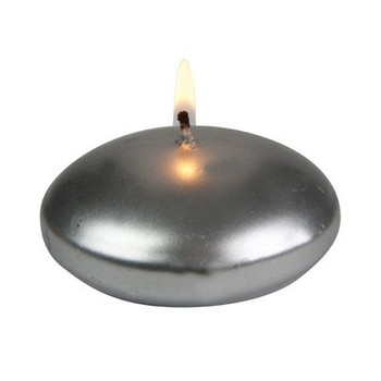 "3"" Silver Floats Floating Candles, Set of 16"