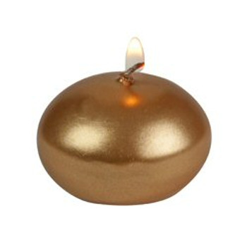 "1"" Gold Floats Floating Candles, Set of 40"