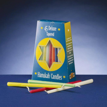 "5"" Assorted Rainbow Hanukkah Taper Candles, Set of 540"