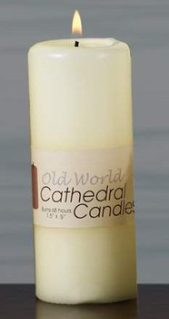 "5"" Old World Altar Unscented Pillar Candles, Set of 12"