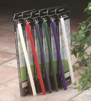 "10"" Six Elements Taper Candles, 6 Color Choices"