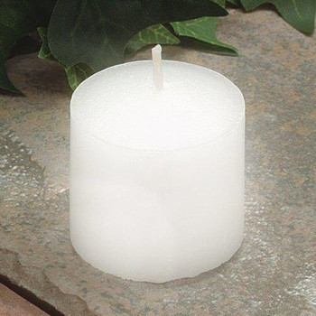 15 Hour White Votive Candles, Set of 144