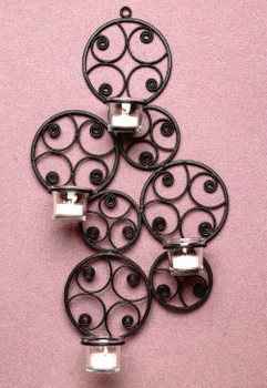 Retro Scroll Metal Candle Wall Sconce