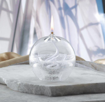 Mouth Blown Crystal Oil Lamp