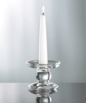 Dual Pillar and Taper Glass Candle Holders, Set of 4