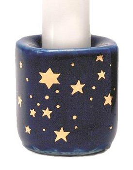 Stars Porcelain Taper Candle Holders, Set of 20