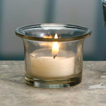 Flared Top Glass Tea Light Candle Holders, Set of 12