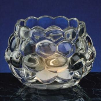 Grape Design Daylight Glass Tea Light Candle Holders, Set of 2