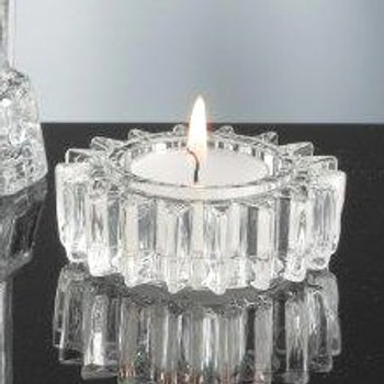 Wheel Gear Glass Tea Light Candle Holders, Set of 6
