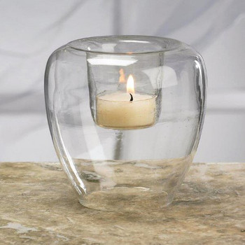 Regal Glass Tea Light Candle Holders, Set of 16