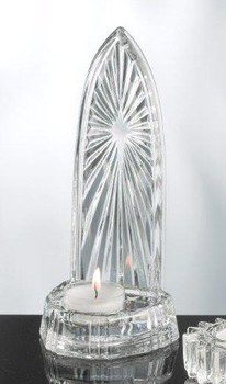 Cathedral Facade Glass Tea Light Candle Holders, Set of 4