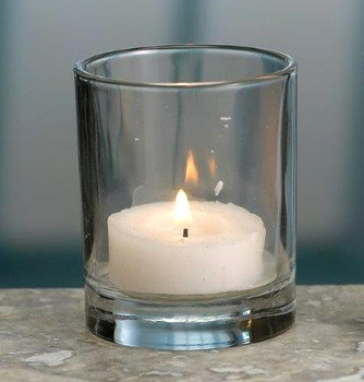Round Glass Votive Candle Holders, Set of 12