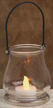 "3.5"" Hanging Glass Bell Votive Candle Lantern Candle Holders, Set of 6"