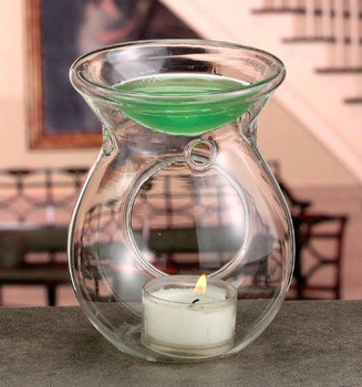 Expression Clear Glass Candle Tart Burners, Set of 4