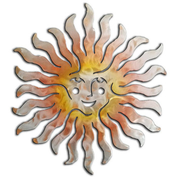 Sprite Sun Face Sunset Swirl Metal Wall Art