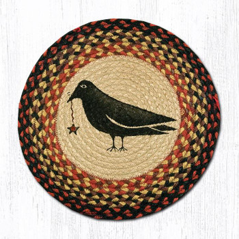 "15.5"" Crow & Star Braided Jute Chair Pad, Set of 2"