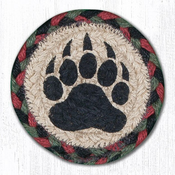 Bear Paw Braided Jute Coasters, Set of 8