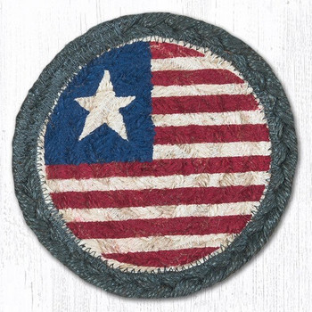 Original Flag Braided Jute Coasters, Set of 8