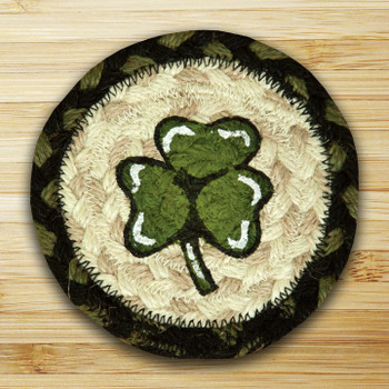 Shamrock Braided Jute Coasters, Set of 8