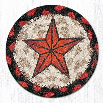 Barn Star Braided Jute Coasters, Set of 8