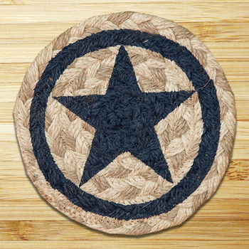 Blue Star Braided Jute Coasters, Set of 8