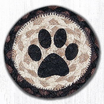 Cat Paw Braided Jute Coasters, Set of 8