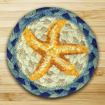 Starfish Braided Jute Coasters, Set of 8