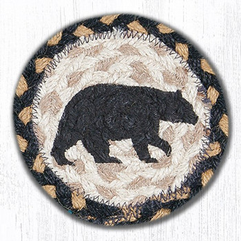 American Bear Braided Jute Coasters, Set of 8