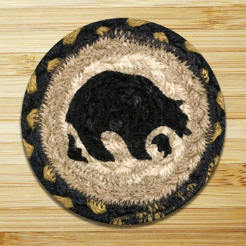 Bear Braided Jute Coasters, Set of 8
