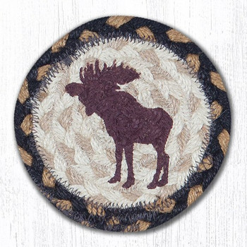 Bull Moose Braided Jute Coasters, Set of 8