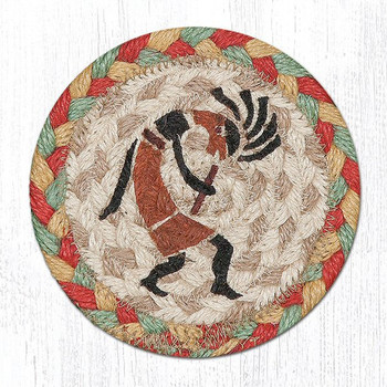 Kokopelli Braided Jute Coasters, Set of 8