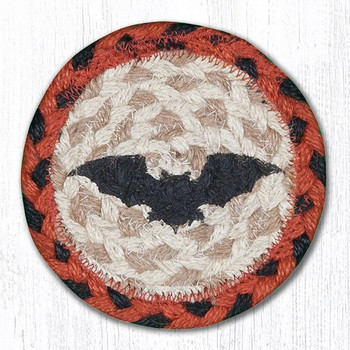 Flying Bat Braided Jute Coasters, Set of 8